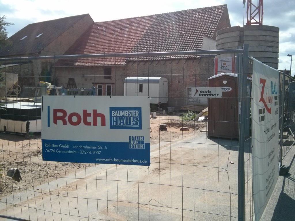Bild unserer Baustelle von Roth Baumeister Haus